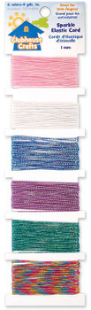 Clubhouse Crafts Elastic Cord Sparkle - 4yd Each Of 6 Colors