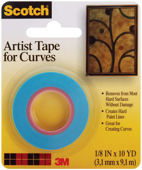 "Scotch Artist Tape For Curves .125""X10yd"