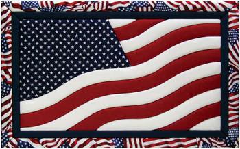 "American Flag Quilt Magic Kit 12""X19"""