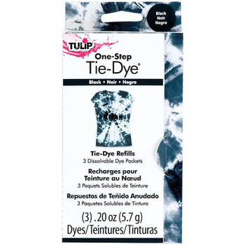 Tulip One-Step Tie-Dye Refill .13oz 3/Pkg Black