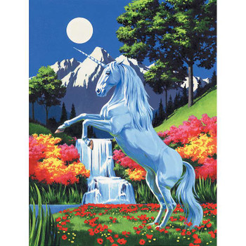 """Paint By Number Kit Artist Canvas Series 9""""X12"""" Unicorn"""