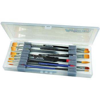 """ArtBin Brush Box 14""""X6""""X1.25"""" Translucent"""