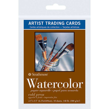 "Strathmore Artist Trading Cards 2.5""X3.5"" 10/Pkg Watercolor"