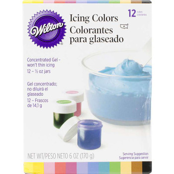 Icing Colors .5oz 12/Pkg Assorted Colors