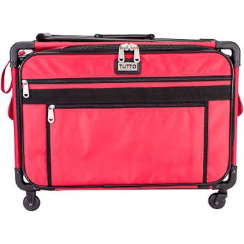 """TUTTO Machine On Wheels Case 23""""X14.25""""X14"""" Red"""