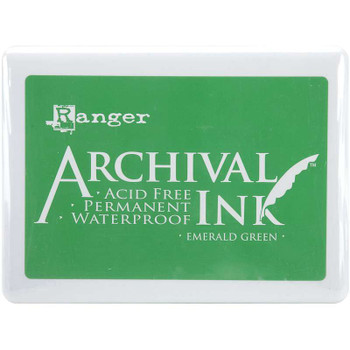 Archival Ink Jumbo Ink Pad #3 Emerald Green