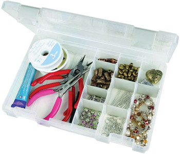 "Artbin Tarnish Inhibitor Solutions Box 4-16 Compartments 10.75""X7.375""X1.75"" Translucent"