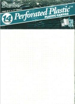 "Perforated Plastic Canvas 14 Count 8.5""X11"" 2/Pkg White"