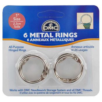 "Metal Rings 1"" 6/Pkg"
