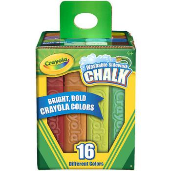 Crayola Washable Sidewalk Chalk Assorted Colors 16/Pkg