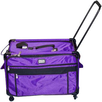 """TUTTO Machine On Wheels Case 27""""X16.25""""X14"""" Purple"""