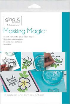 "Gina K Designs Masking Magic Sheets 5""X7"" 12/Pkg"