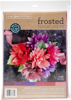Frosted Tissue Paper 24/Pkg Berry Delight