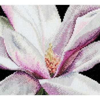 """Magnolia On Aida Counted Cross Stitch Kit 5.75""""X5.5"""" 18 Count"""