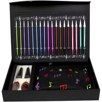 "Melodies Of Life ""Zing"" Interchangeable Needle Set 9 Pairs / 4 Cords / Accessories"