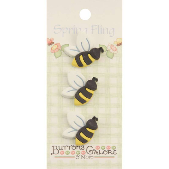 Spring Fling Buttons Bees