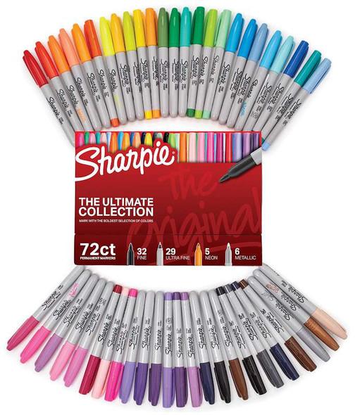 Sharpie Ultimate Pack Markers 72/Pkg Original, Assorted Colors & Tips