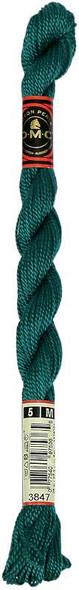 DMC Pearl Cotton Skein Size 5 27.3yd Dark Teal Green