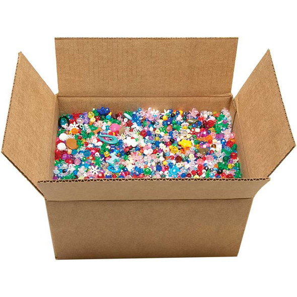 Mixed Plastic Beads 10lb Assorted Shapes & Sizes