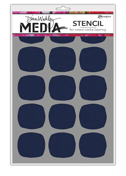"Dina Wakley Media Stencils 9""X6"" Big Squovals"