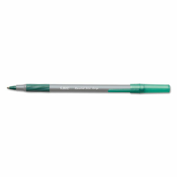 BIC Round Stic Grip Xtra Comfort Ballpoint Pen - BICGSMG11GN