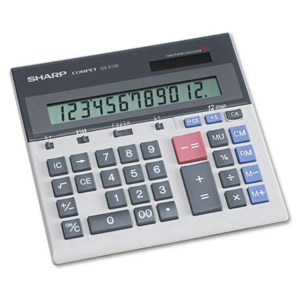 Sharp QS-2130 Compact Desktop Calculator