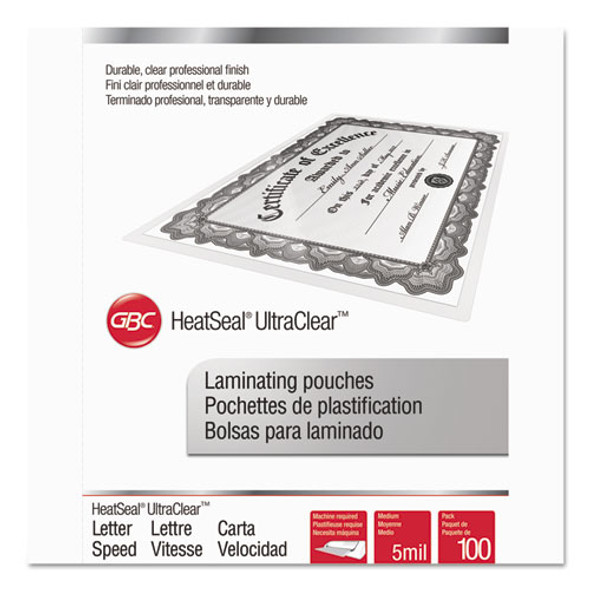GBC UltraClear Thermal Laminating Pouches - GBC3200587