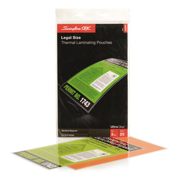 GBC UltraClear Thermal Laminating Pouches - GBC3200578