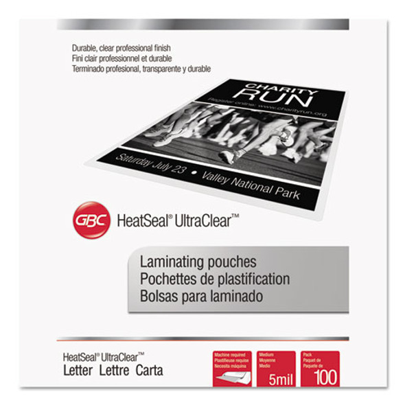 GBC UltraClear Thermal Laminating Pouches - GBC3200654