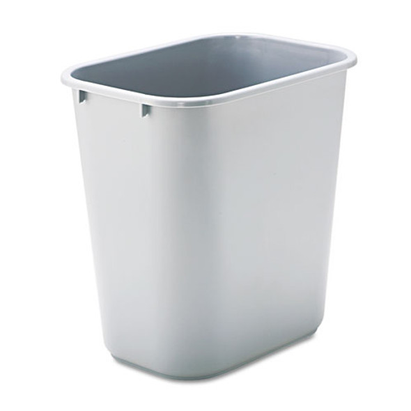 Rubbermaid Commercial Deskside Plastic Wastebasket - RCP295600GY