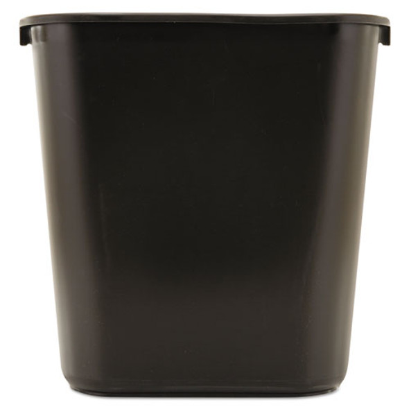 Rubbermaid Commercial Deskside Plastic Wastebasket - RCP295600BK