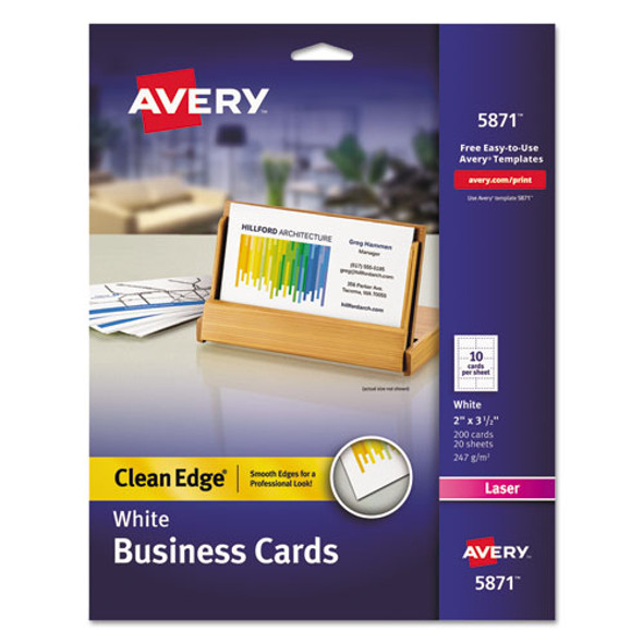 Avery Premium Clean Edge Business Cards - AVE5871