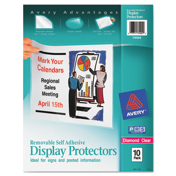 Avery Removable Self-Adhesive Clear Display Protector