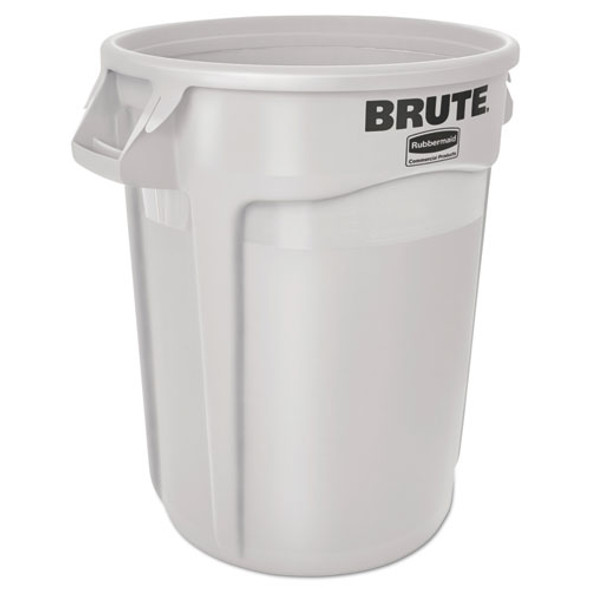 Rubbermaid Commercial Vented Round Brute Container - RCP2610WHI
