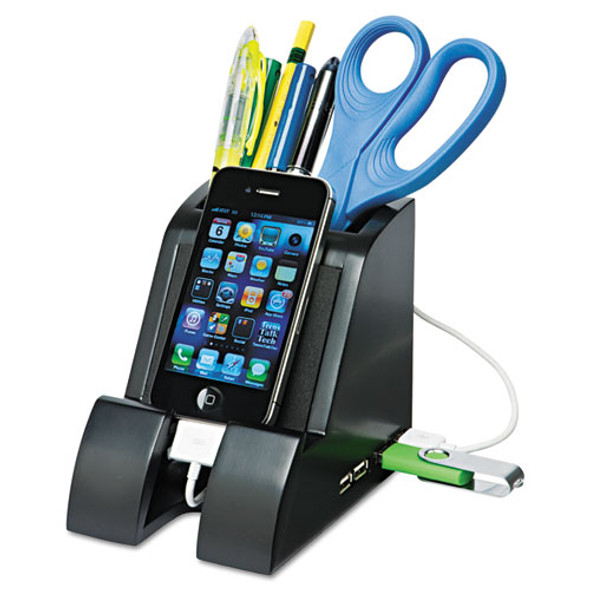 Victor Smart Charge Pencil Cup with USB Hub