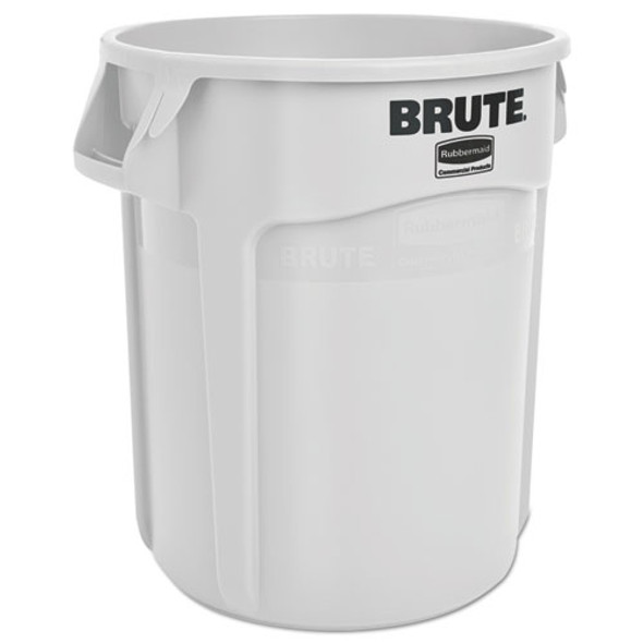 Rubbermaid Commercial Vented Round Brute Container - RCP2620WHI