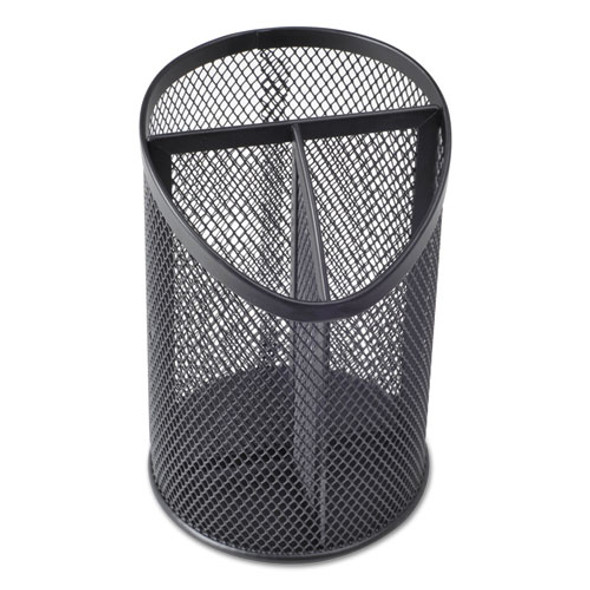 Universal Metal Mesh 3-Compartment Pencil Cup