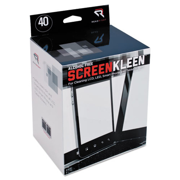 Read Right Alcohol-Free ScreenKleen Wipes