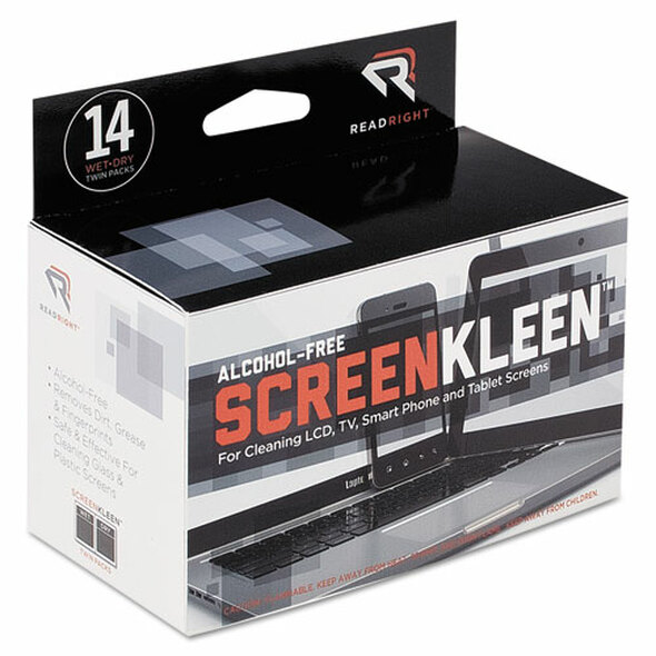 Read Right Alcohol-Free ScreenKleen Wipes - REARR1291