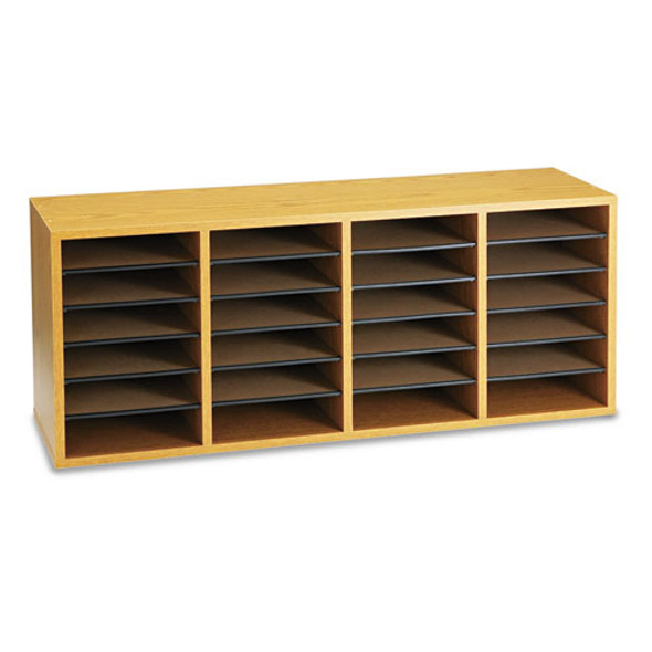 Safco Adjustable Compartment Wood Literature Organizers - SAF9423MO