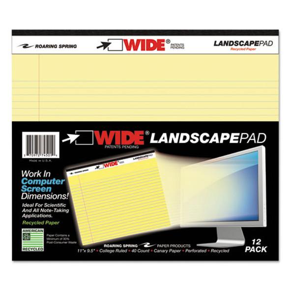 Roaring Spring WIDE Landscape Format Writing Pad - ROA74501