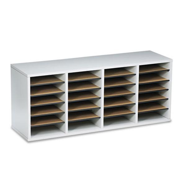 Safco Adjustable Compartment Wood Literature Organizers - SAF9423GR