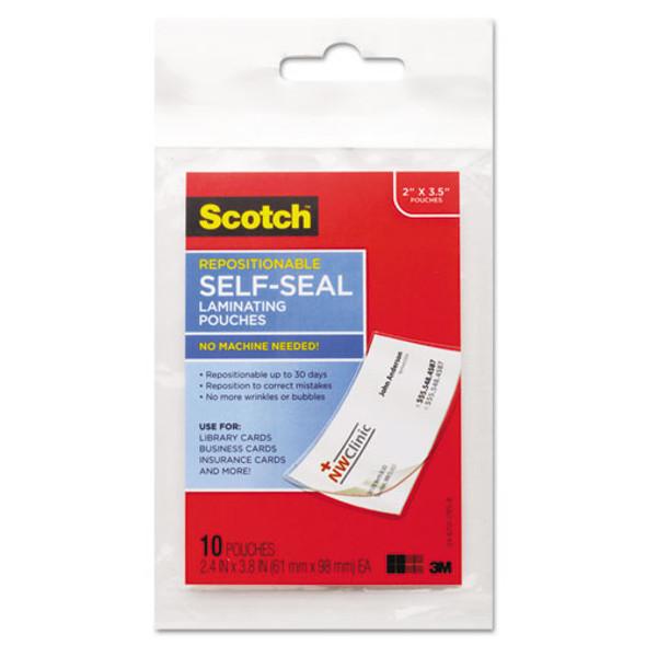 Scotch Self-Sealing Laminating Pouches - MMMLS85110G