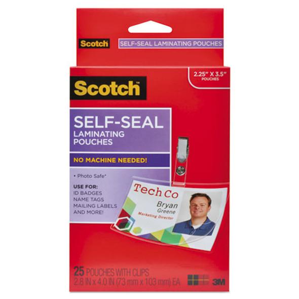 Scotch Self-Sealing Laminating Pouches - MMMLS852G