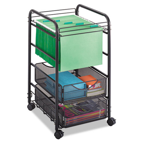 Safco Onyx Mesh Open Mobile File with Drawers
