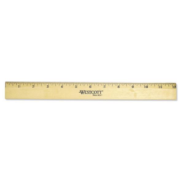 Westcott Beveled Wood Ruler