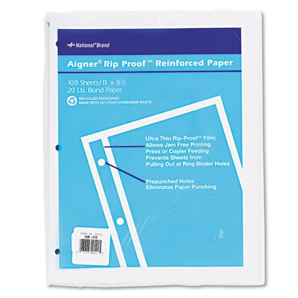 National Rip Proof Reinforced Filler Paper