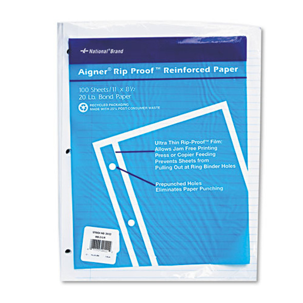National Rip Proof Reinforced Filler Paper - RED20122