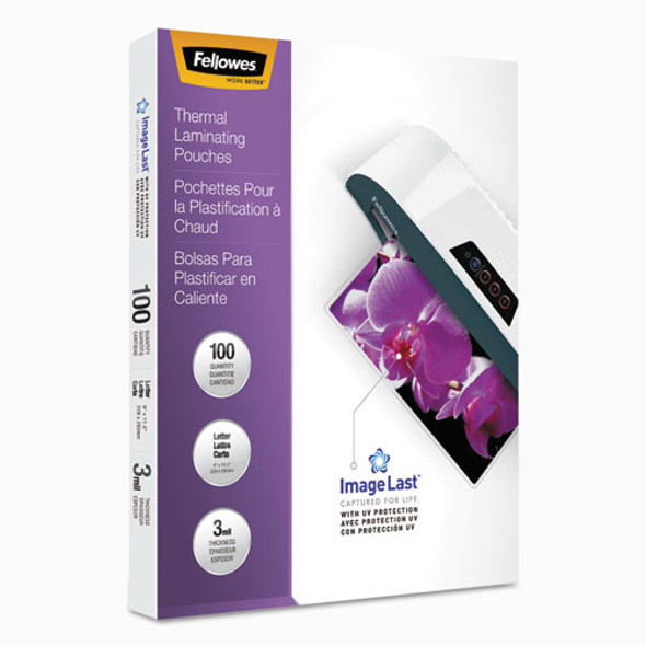 Fellowes ImageLast Laminating Pouches with UV Protection - FEL52454