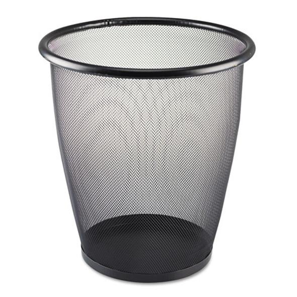 Safco Onyx Round Mesh Wastebaskets - SAF9717BL